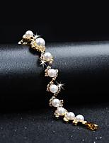 economico -Per donna Bracciali a catena e maglie Zircone cubico Strass Vintage Elegant Perla Cristallo Circolare Gioielli Matrimonio Evento