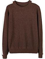 cheap -Men's Daily Wear Regular Pullover,Print Round Neck Long Sleeves Cotton Winter Autumn/Fall Medium Micro-elastic
