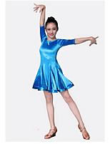 cheap -Kids' Dancewear Dresses Children's Performance Velvet Chiffon Pleated Half Sleeve Natural Dresses