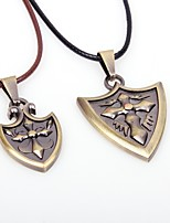 Couple's Pendant Necklaces Leather Alloy Pendant Necklaces , Asian Vintage Valentine Going out