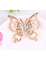 cheap -Women's Brooches Rhinestone Animals Alloy Butterfly Jewelry For Gift Daily