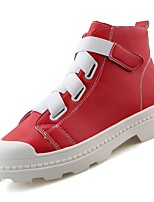 cheap -Men's Shoes Rubber Winter Fall Comfort Sneakers Ribbon Tie for Outdoor Red Black White