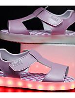 preiswerte -Mädchen Schuhe Künstliche Mikrofaser Polyurethan Winter Herbst Komfort Sandalen Walking Klettverschluss für Normal Weiß Blau Rosa