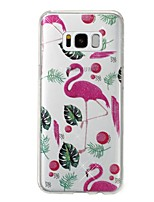 cheap -Case For Samsung Galaxy S8 Plus S8 IMD Pattern Back Cover Flamingo Glitter Shine Soft TPU for S8 Plus S8 S7 edge S7