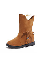 preiswerte -Damen Schuhe Gummi Winter Schneestiefel Stiefel Runde Zehe für Schwarz Rot Kamel