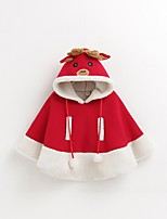 cheap -Reindeer Christmas Dress Kid Christmas Festival / Holiday Halloween Costumes Red Christmas