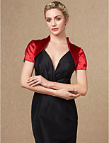 cheap -Short Sleeves Satin Wedding Party / Evening Women's Wrap Shrugs