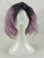 cheap -Women Synthetic Wig Medium Length Curly Black/Purple Ombre Hair Party Wig Natural Wigs Costume Wig