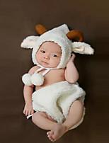 preiswerte -Baby Unisex Kleidungs Set Weihnachten Geburtstag Solide Baumwolle Ganzjährig Ärmellos Niedlich Weiß