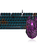 cheap -Dareu G60  Wired  Mechanical Keyboard Black Switches RED Switches  1.8m  Gaming Mouse seven key 6000DPI