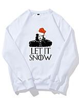 economico -Jon Snow Maglione di Natale Unisex Natale Feste / vacanze Costumi Halloween Bianco Bianco Alfabetico