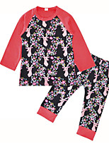 cheap -Girls' Floral Clothing Set,Silk Winter Fuchsia