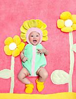 cheap -Baby Unisex Christmas Birthday Color Block Clothing Set,Cotton All Seasons Cute Sleeveless Yellow