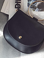 cheap -Women Bags PU Shoulder Bag Buttons for Casual All Season Dark Green Gray Red Black