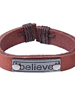cheap -Men's Bracelet Vintage Rock Leather Alloy Circle Jewelry For Bar Going out