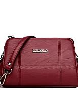 cheap -Women Bags PU Crossbody Bag Zipper for Event/Party Casual Winter Fall Black Gray Purple Wine