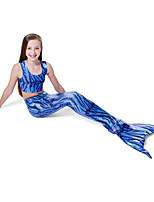 cheap -The Little Mermaid Swimwear Bikini Kid Christmas Masquerade Festival / Holiday Halloween Costumes Blue Color Block