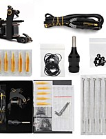 cheap -Professional Tattoo Kit 1 Kit Cast Iron Tattoo Machine Tattoo Machine 1 cast iron machine liner & shader Black Kits