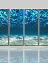 economico -Stampa trasferimenti su tela Classico Rustico Modern,Quattro Pannelli Tela Verticale Stampa Decorazioni da parete Decorazioni per la casa