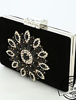cheap -Women Bags Polyester Metal Evening Bag Flower(s) for Event/Party All Season Red Black