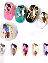 cheap -Rhinestones Others Multi-colored Nail Art Design