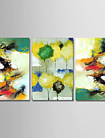 cheap -Hand-Painted Abstract Horizontal, Simple Modern Canvas Oil Painting Home Decoration Three Panels