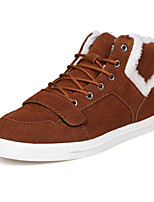 cheap -Men's Shoes Suede Winter Fall Fluff Lining Comfort Sneakers for Casual Outdoor Brown Gray Black
