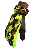 cheap -Winter Gloves Ski Gloves Kid's Full-finger Gloves Keep Warm Windproof Skidproof Durable Poly&Cotton Blend Camping / Hiking Cycling Ski /