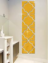 Miroir Forme Stickers muraux Autocollants muraux 3D Miroirs Muraux Autocollants Autocollants muraux décoratifs,Vinyle Décoration