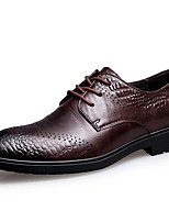 cheap -Men's Shoes Nappa Leather Winter Fall Formal Shoes Oxfords for Casual Party & Evening Coffee Black