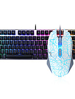 cheap -Dareu   Wired  Mechanical keyboard   Mouse blue Switches 1.8m seven key 6000DPI