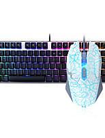baratos -Dareu com fio teclado mecânico mouse azul comutadores 1.8m sete teclas 6000dpi