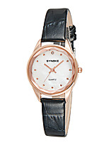 cheap -Women's Fashion Watch Wrist watch Simulated Diamond Watch Japanese Quartz Water Resistant / Water Proof Imitation Diamond Leather Band