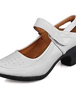 "cheap -Women's Modern Leatherette TPU Heel Training Cuban Heel White 1"" - 1 3/4"" 2"" - 2 3/4"" Customizable"