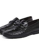 cheap -Men's Shoes Cowhide Spring Fall Comfort Loafers & Slip-Ons for Casual Black Burgundy