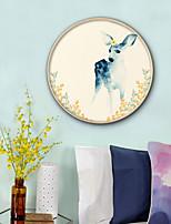 Недорогие -Цветочные мотивы/ботанический Животные Иллюстрации Предметы искусства,ПВХ материал с рамкой For Украшение дома Предметы искусства в рамках