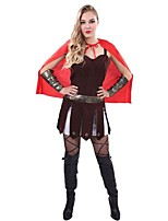 cheap -Sparta Gladiator Ancient Greece Ancient Rome Costume Women's Costume Black/Red Vintage Cosplay Cloth Demin Sleeveless Lolita Knee Length
