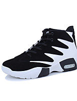 Men's Shoes Rubber Spring Fall Comfort Sneakers Lace-up for Outdoor Black/Red Black and Blue Black/White