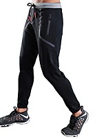 cheap -Men's Running Pants Fitness, Running & Yoga Pants / Trousers for Running/Jogging Exercise & Fitness Rayon Polyester Slim Red Black XXL XL