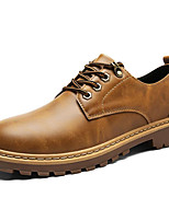 cheap -Men's Shoes Synthetic Microfiber PU Winter Fall Comfort Oxfords for Casual Light Brown Brown Gray