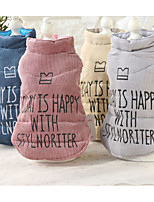 Dog Vest Dog Clothes Casual/Daily Letter & Number Pink Blue Yellow Gray Costume For Pets