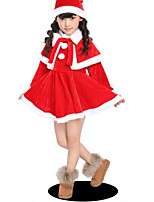 cheap -Girls' Sports Solid Clothing Set,Wool Winter Long Sleeve Casual Red