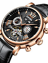 cheap -Men's Dress Watch Skeleton Watch Mechanical Watch Swiss Automatic self-winding Calendar / date / day Chronograph Water Resistant / Water
