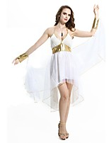 cheap -Athena Goddess Ancient Greek Costume Women's Party Costume Masquerade White Vintage Cosplay Terylene Sleeveless Knee Length