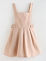 cheap -Girl's Solid Dress,Cotton Spring, Fall, Winter, Summer Vintage Street chic Black Blushing Pink