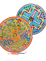 cheap -Wooden Puzzles Maze Magnetic Maze Maze Toys Round Classic Theme Stress and Anxiety Relief Furnishing Articles Decompression Toys