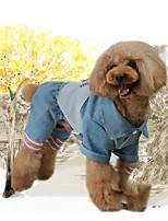cheap -Dog Sweatshirt Jumpsuit Dog Clothes Stylish Leisure Trendy Animal Patchwork Letter & Number Blue Costume For Pets
