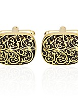 cheap -Floral Pattern Golden Cufflinks Copper Basic Fashion Daily Formal Men's Costume Jewelry