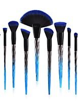 preiswerte -10 Stücke Bürsten-Satz- Rouge Pinsel Lidschatten Pinsel Lippenpinsel Puderpinsel Grundlagen Pinsel Künstliches Haar Umweltfreundlich