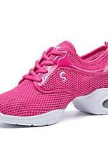 """economico -Da donna Sneakers da danza moderna Tulle Sneaker All'aperto A fantasia Piatto Fucsia 1 """"- 1 3/4"""" Personalizzabile"""